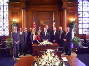 The Springfield City Council on Inauguration Day, 2012 (WMassP&I)