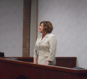 Clerk of Courts Laura Gentile in 2013. She worked in the office when she ran for the job in 2012. (WMassP&I)