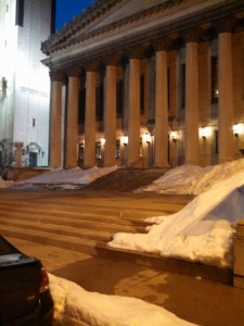 City Hall after a snowstorm last year. (WMassP&I)