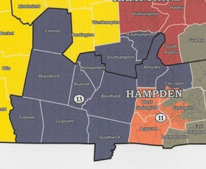 The Second Hampden & Hampshire 2002-2012. Blandford, Chester and more of Chicopee were in the district then and Agawam not. (via malegislature.gov)