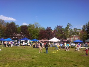 Wide view of Community area of Long Meaddowe Days where political tents were (WMassP&I)
