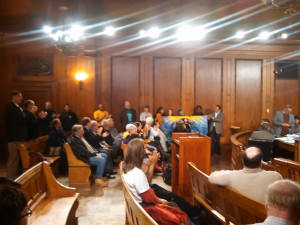 ECOS Supporters Monday night at the Springfield City Council (WMassP&I)