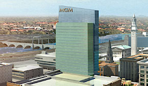 Fenton set out a review process for the Council to consider changes to MGM's plans like removal of the tower (pictured) originally included. (via mgmspringfield.com)