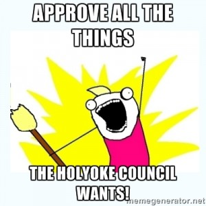 Artist's rendition of a Holyoke councilor. (via memegenerator.net)