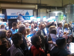 Chip Harrington with supporters on March 16. (WMassP&I)