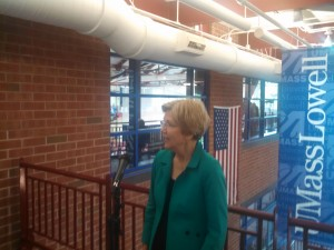 Sen. Warren in Lowell this year. (WMassP&I)